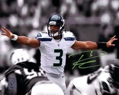 This is a 8x10 Photo that has been hand signed by Russell Wilson. It comes with Russell Wilson hologram & matching certificate of authenticity.