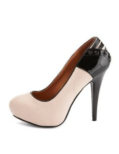 Pale pink Corset Pumps with leather backing, cute!