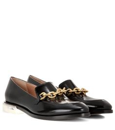 Braxton black leather loafers