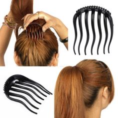 Useful Ponytail Inserts Hair Clip Bun Maker Bouffant Volume Hair Comb Women Girl #Affiliate