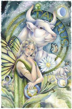 Papier - Signe astrologique : Taureau - Taurus by Jody Bergsma Taurus Art, Astrology Taurus, Taurus Woman, Taurus And Gemini, Zodiac Taurus, Zodiac Art, Zodiac Signs, Art Zodiaque, Signes Zodiac