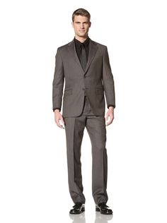 72% OFF Hickey Freeman Men's Suit with Flat Front Pant (Black)