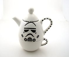 Star Wars Inspired Storm Trooper Teapot- @Chelsea Rose Rose Rose Terry 's new house!