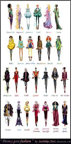 Disney goes fashion.Final by *Sashiiko-Anti on deviantART