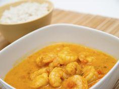 On craque pour le curry de crevettes dans ces 5 versions - 4 photos Curry Coco, Le Diner, Thai Red Curry, Macaroni And Cheese, Shrimp, Coconut, Ethnic Recipes, Sauce, Parfait