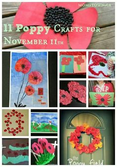 11 poppy crafts for Nov Poppy crafts and family ideas for Remembrance Day. Remembrance Day Activities, Remembrance Day Art, Art For Kids, Crafts For Kids, Arts And Crafts, Holiday Crafts, Holiday Fun, Poppy Craft, Remember Day