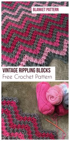 Vintage Rippling Blocks [Free Crochet Pattern]