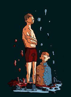 Dans l'eau encore et toujours by Stroffi.deviantart.com on @DeviantArt
