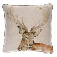 Stag Linen Cushion