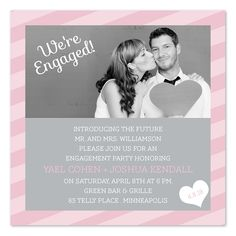 Sweet Romance - Engagement Announcements by Invitation Consultants. (Item # IC-RLP-949 )