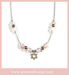 The perfect gift for a Bat Mitzvah. #Star of David Necklace #BatMitzvah www.artsncraftsisrael.com