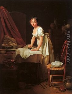 Young Woman Ironing - Louis Leopold Boilly