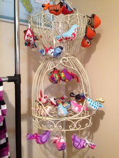 Little fabric birdie ornaments  on Etsy, $6.00