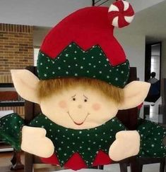 Moldes Navideos. Moldes Navideos. Colombinas Navideas. Ideas ... Christmas Time, Christmas Crafts, Christmas Decorations, Xmas, Christmas Ornaments, Holiday Decor, Chair Covers, Elf, Decoupage