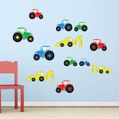 Tractor & Digger Boys Farm Vehicles by RubybloomDesignsLtd