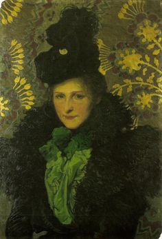 Józef Mehoffer - The Florentine Portrait of the Artist's Wife (1900)