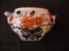Corps de sucrier Porcelaine de Bayeux Langlois Caducée 19e (2)