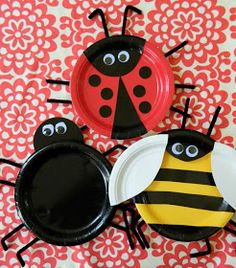 Today we are going to be making bugs with humble paper plates from the dollar store. I also used googly eyes and pipe cleaner legs ...