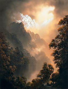 Tim Wilson - an amazing painter from Queenstown, NZ Watercolor Landscape, Landscape Art, Landscape Paintings, Watercolor Paintings, Painting Clouds, Hyperrealism Paintings, Book Cover Background, Bob Ross Paintings, Wilson Art