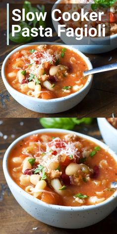 Slow Cooker Pasta Fagioli gluten free Slow Cooker Pasta Fagioli A really simple hearty meal that is perfect for your crock pot This features is great for a fall or winter. Slow Cooker Pasta, Crock Pot Slow Cooker, Slow Cooker Recipes, Crockpot Recipes, Cooking Recipes, Healthy Recipes, Keto Recipes, Simple Soup Recipes, Crock Pot Soup Recipes