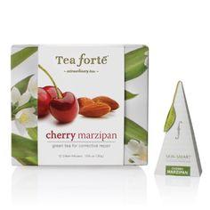 Tea Forte Petite Ribbon Box 10 Silken Pyramid Infusers Skin Smart Cherry Marzipan - http://mygourmetgifts.com/tea-forte-petite-ribbon-box-10-silken-pyramid-infusers-skin-smart-cherry-marzipan/