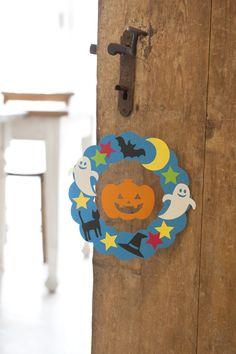 スイングするかぼちゃのリースでお出迎え♪/ハロウィーンを楽しもう!(「はんど&はあと」2011年10月号)