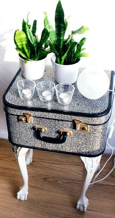 Suitcase Side Table - step by step Photo tutorial - Bildanleitung