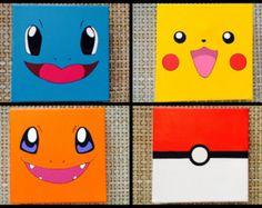 Pokemon Inspired Paintings (Set of 4)