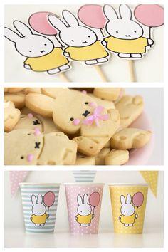 Super sweet miffy bunny themed birthday party on Kara's Party Ideas!
