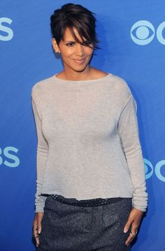 Short Hair Inspiration: Halle Berry's Current Sideswept Haircut: Lipstick.com