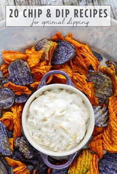 Chips and Dip Recipes - 20 Crazy Delicious Chips and Dip You'll Want to Pig Out On - Cosmopolitan