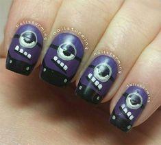 Purple / Evil Minion Nails