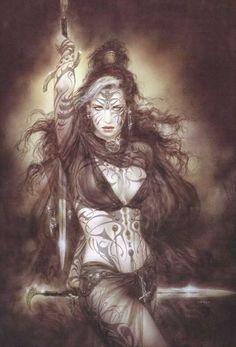 Fantasy Art Women, Beautiful Fantasy Art, Dark Fantasy Art, Fantasy Girl, Fantasy Artwork, Fantasy Rpg, Blond Amsterdam, Comic Art Girls, Luis Royo