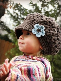 Girls Hat Baby Hat crochet kids hat slouchy by JuneBugBeanies