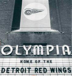 Olympia Stadium - Old photos — Historic Detroit Detroit Rock City, Detroit Art, Detroit Sports, Detroit News, Detroit Michigan, Detroit Red Wings, Detroit Ruins, Olympia Stadium, Basketball Photos