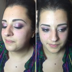 A pink and purple sparkly eye makeup look Sparkly Eye Makeup, Freelance Makeup Artist, Purple, Pink, Makeup Looks, Bridal, Eyes, Beauty, Fashion
