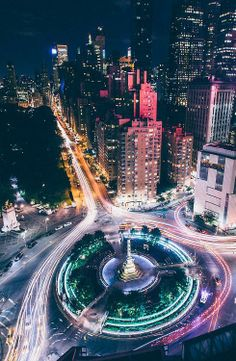 Columbus Circle - hustle and bustle in New York // cannot wait to see this in real life next week! Oh The Places You'll Go, Places To Visit, New York City, A New York Minute, Voyage New York, Columbus Circle, Empire State Of Mind, I Love Nyc, City That Never Sleeps