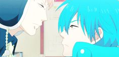 Noiz kissing Aoba.