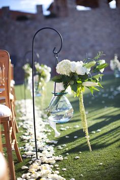 Shepherd Hook Wedding Aisle Decor
