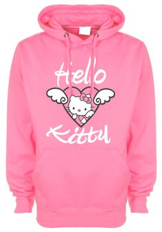 Hello Kitty Printed Hoodie Adult by LGL1 on Etsy