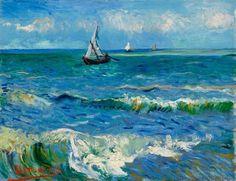 Vincent van Gogh, Seascape near Les Saintes-Maries-de-la-Mer, 1888 on ArtStack…