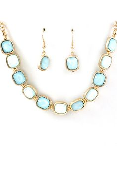 Prussian Blue Sadie Necklace   Awesome Selection of Chic Fashion Jewelry   Emma Stine Limited