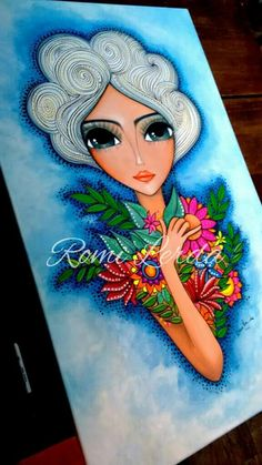 Fabric Painting, Painting & Drawing, Arte Popular, Art Store, Whimsical Art, Art Plastique, Illustrations, Face Art, Indian Art