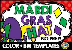Check out this #fun #Mardi #Gras #hat #crafts! ★$1 DEAL TODAY! ★ <3