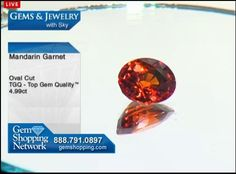 A 4.9 carat Mandarin Garnet gemstone for sale at Gem Shopping Network