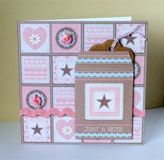 Handmade card using the Papermania Craft Collection