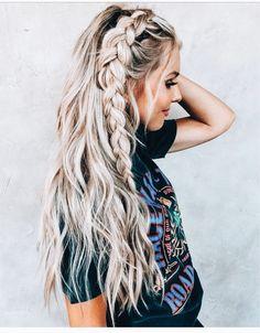 Dutch Braid Tutorial for 2019 Latest Season 2019 Dutch Braid Tutorial; Half-up Dutch Braid; Ponytail with Dutch Braid;Hairstyles For braiding Dutch Braid Hairstyles Summer Hairstyles, Pretty Hairstyles, Hairstyle Ideas, Braid And Curls Hairstyles, Cute Braided Hairstyles, Long Hair Hairstyles, Boho Hairstyles For Long Hair, Festival Hairstyles, Braided Mohawk