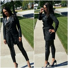 Online store owned by Tanya Green of Country Club Hills, IL. Street wear, outerwear and more! Country Club Hills, Higher Design, Leather Pants, Street Wear, Fashion Outfits, Boutique, How To Wear, Clothes, Leather Jogger Pants
