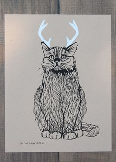 Wild Catalope Two Color Screen Print