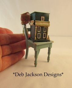 From DJD 12th scale tatty chair and French by DebJacksonDesigns
